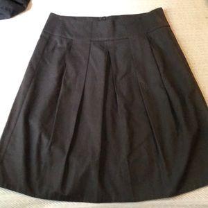 Black Pleated Vince Skirt